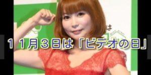 11月3日はビデオ三昧がおススメ!!
