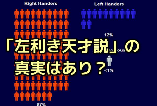 「左利きは天才肌」なのウソ?ホント?