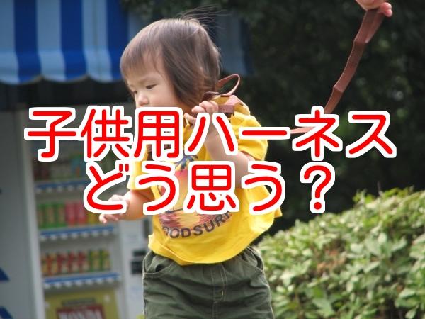 子供の迷子ひも、使ってる?